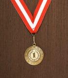 guld- medaljvektor Royaltyfri Bild