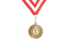 guld- medaljvektor Royaltyfri Foto