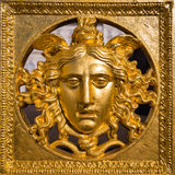 Guld- Medusamaskering Royaltyfria Foton