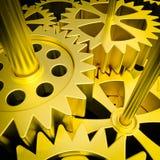 Guld- mekanism stock illustrationer