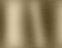 Guld- metall borstad bakgrund Arkivfoto