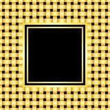 guld- metallgnäggande för ram Arkivfoto