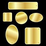 guld- metalliska etiketter Arkivfoton