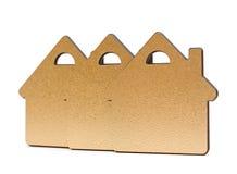 Guld- metalliska lilla hus Fotografering för Bildbyråer