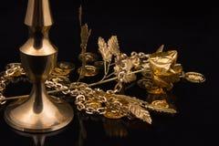 Guld- metallprodukter Royaltyfri Bild