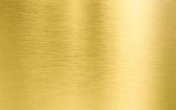 Guld- metalltextur Fotografering för Bildbyråer