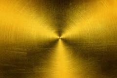 Guld- metalltexturbakgrund Fotografering för Bildbyråer