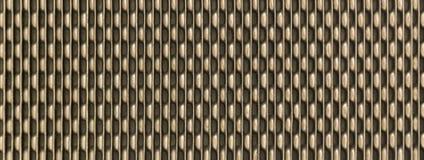 Guld- metalltexturbakgrund Element av frysmaskinen i bryggeri arkivfoto
