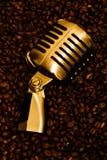 guld mic för kaffe 2 Arkivbilder