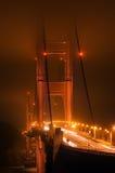 guld- midnatt för port Arkivbild