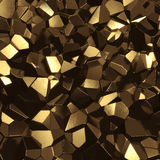 guld- mineral Royaltyfri Foto