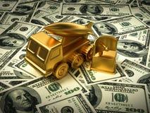 Guld- missilsystem och radar på amerikanska dollar Royaltyfri Fotografi