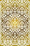 Guld- mönstra med den blom- prydnaden Arkivbild