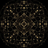guld- modell Royaltyfri Fotografi