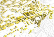 guld- modell för stad Fotografering för Bildbyråer