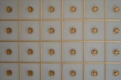 Guld- modeller stänger sig upp royaltyfri foto