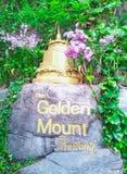 guld- monteringstempel Arkivbild