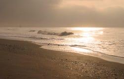 guld- morgon Arkivbilder