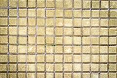 Guld- mosaik för lyckligt nytt år 2017 royaltyfria bilder