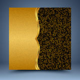 Guld- mosaikabstrakt begreppbakgrund Arkivfoto
