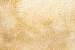 Guld- mousserande bakgrund med kopieringsutrymme Royaltyfria Foton