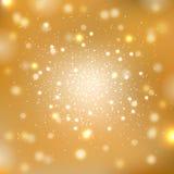 Guld mousserar bakgrund Fotografering för Bildbyråer