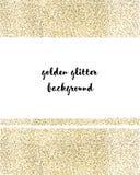 Guld mousserar på vit bakgrund Guld blänker bakgrund Guld- bakgrund för kortet, certifikat, gåva Royaltyfri Fotografi