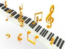 guld- musiksuperhit Stock Illustrationer