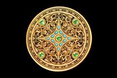 guld- mynt Arkivfoton