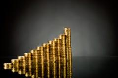 Guld- mynt royaltyfri fotografi