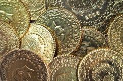 Guld- mynt Arkivbild