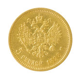 Guld- mynt royaltyfria bilder