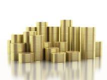guld- mynt 3d Fotografering för Bildbyråer