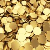 Guld- myntbakgrund stock illustrationer