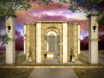 guld- mystiskt tempel arkivfoton