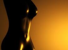 guld- näck kvinna Arkivbild