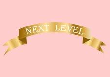 Guld- nästa nivå Arkivbild