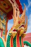 Guld- Naga, thailändskt mytologiskt tecken Royaltyfria Foton