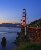 guld- natt för broport Arkivfoto