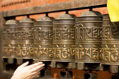 guld- nepal patan tempel Royaltyfria Bilder