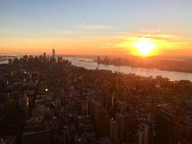 Guld- New York Cit royaltyfri foto