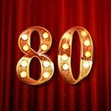 Guld- nummer - 80 Royaltyfri Bild