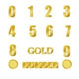Guld- nummer Arkivbild