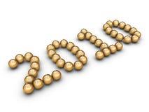 guld- nummer för bollar Royaltyfri Foto