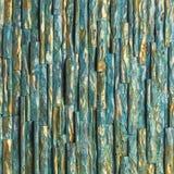 Guld- och blå trämålarfärg fotografering för bildbyråer