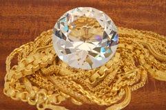 Guld och diamant Arkivbild