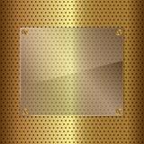 Guld och exponeringsglas Arkivfoton