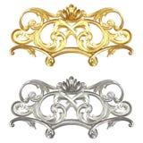 Guld- och försilvra Royaltyfri Bild