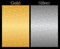 Guld- och försilvra bakgrund Arkivfoto