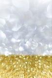 Guld- och försilvra bakgrund Royaltyfri Bild